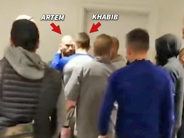 7e75d79fd26 UFC's Khabib Nurmagomedov Confronts Conor McGregor's BFF in Heated Hotel  Scrum