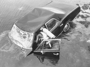 Ted Kennedy -- The Chappaquiddick Crash Scene