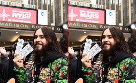 Can you spot the THREE differences in these Jared Leto photos?
