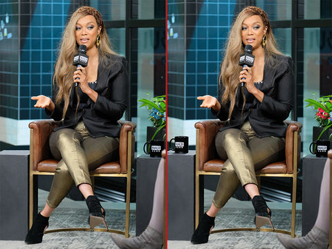 Can you spot the THREE differences in these Tyra Banks photos?