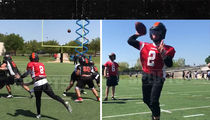 Johnny Manziel's Spring League Practice Highlights, Looks Sharp