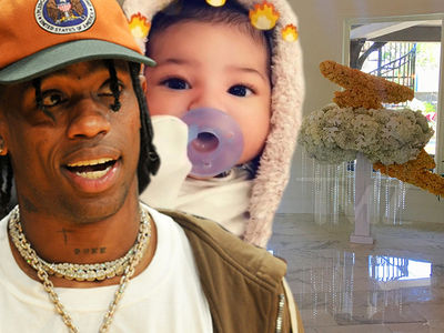 Travis Scott Spends $7k on Flowers for 'Welcome Stormi' Party