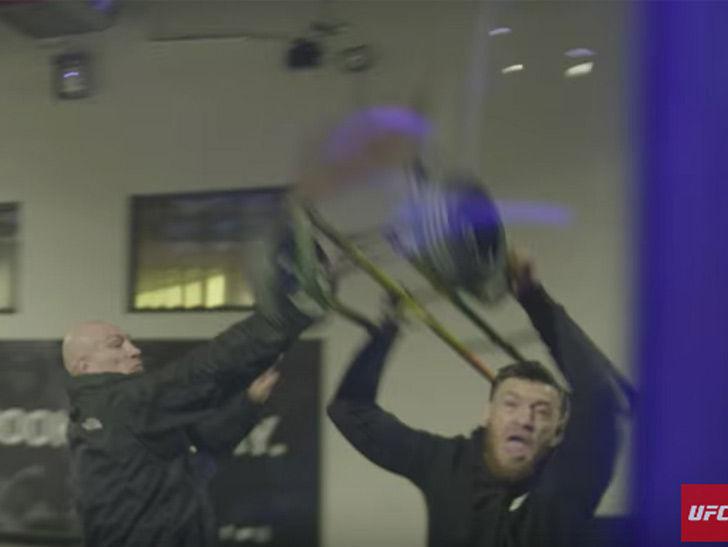b3d22c0125 Conor McGregor Bus Attack Caught by UFC Cameras