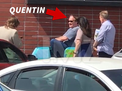 Quentin Tarantino Rides Scooby-Doo Kiddie Ride Outside L.A. Grocery Store