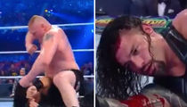 Roman Reigns Gushing Blood During Brock Lesnar 'WrestleMania' Beatdown