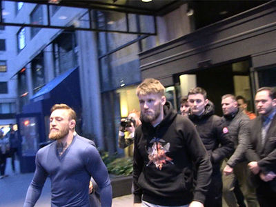 Conor McGregor Rollin' In NYC with Irish Bus Attack Gang
