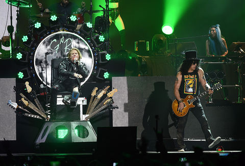 2016: Axl Rose and Slash reunite for their Guns N' Roses performance on day 2