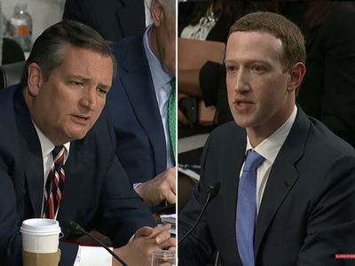 Mark Zuckerberg Spars with Sen. Ted Cruz During Facebook Data Breach Grilling