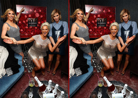 Can you spot the THREE differences in these 'Housewives' photos?