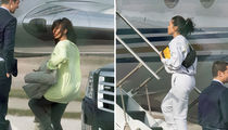 Kim and Kourtney Kardashian Jetting Back from Cleveland