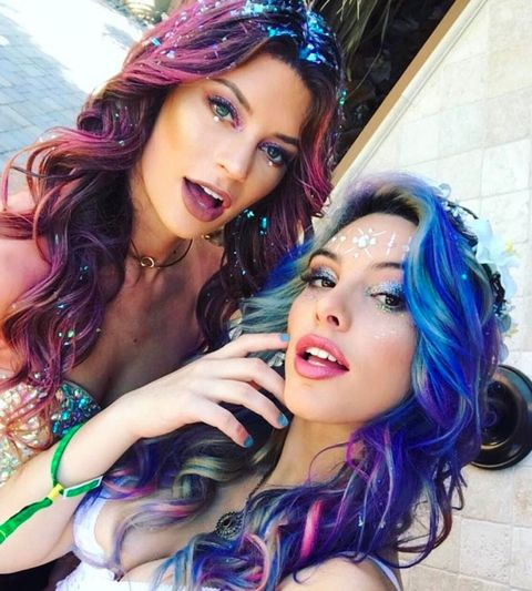 Hannah Stocking and Lele Pons