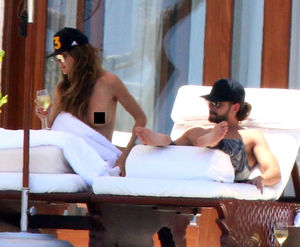 Heidi Klum Topless with BF in Mexico