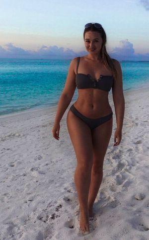 Iskra Lawrence's Maldives Vacation