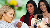 Khloe Kardashian Gets $7.5k Mommy Gift Basket from Kim and Kourtney