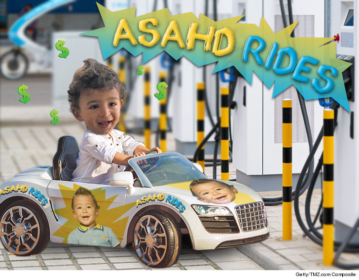 0a599960f92 DJ Khaled's 18-month-old son, Asahd, is gonna be throwing down stacks for  mini cars with his name on 'em before he learns how to sign his name ... if  all ...
