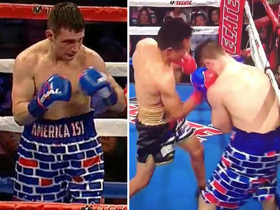 U.S. Boxer Rocks Trump Border Wall Shorts, Gets Crushed By Mexican Opponent