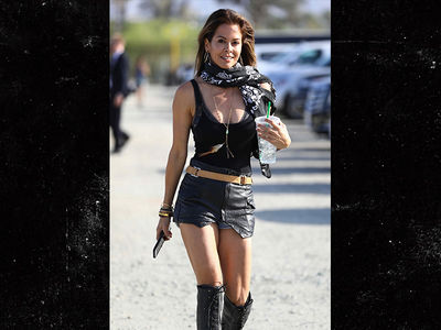Brooke Burke Wears Hot Leather Outfit at Coachella a Week After Divorce News