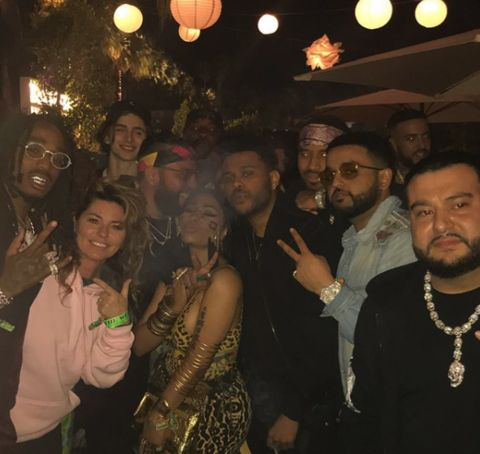 Nicki Minaj at Coachella with Shania Twain, The Weeknd, French Montana, Quavo