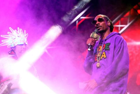 amiroquai and Snoop Dogg perform onstage during the 2018 Coachella Valley Music And Arts Festival at the Empire Polo Field on April 13, 2018 in Indio, California.