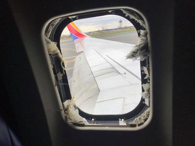 Southwest Airlines Passengers React Moments After Massive Engine Explosion