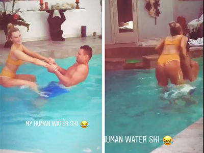 Rob Gronkowski: Pool Games with Bikini Model GF, All Aboard The Gronk!