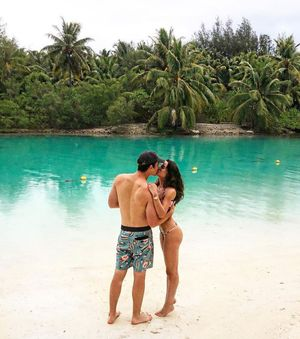 Miles Teller and Keleigh Sperry's Bora Bora Vacation