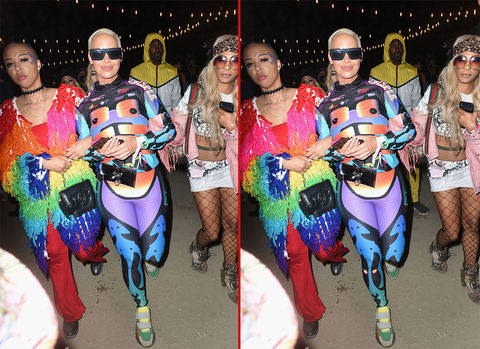 Can you spot the THREE differences in these Amber Rose photos?