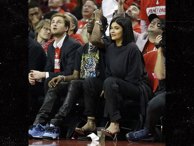 Kylie Jenner & Travis Scott Attending Houston Rockets Basketball Game