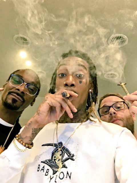 Snoop Dogg, Wiz Khalifa, and Seth Rogen