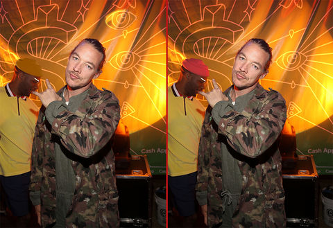 Can you spot the THREE differences in these Diplo photos?