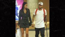 Neymar Crutches Around Brazil with Smokin' Hot Girlfriend