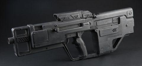 Majors (Scarlett Johansson) Police Bike Tavor Submachine Gun