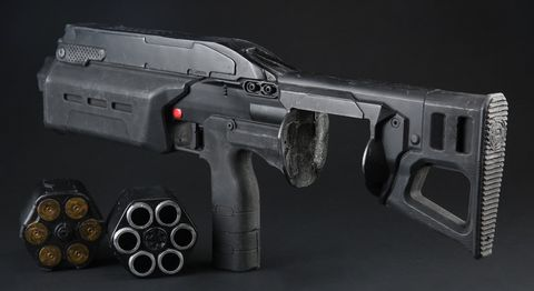 Batou's (Pilou Asbaek) SIX12 Revolving Shotgun and Cylinder