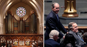 Barbara Bush Funeral: Family, Friends & Past Presidents Say Goodbye to Former First Lady