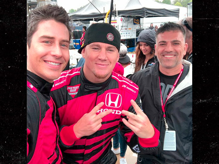 Channing Tatum And Arie Luyendyk Jr. Have A Day At The Races
