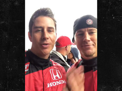 'Bachelor' Arie Luyendyk Jr. Meets Channing Tatum at the Race Track