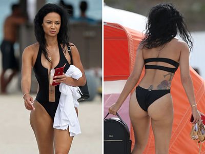 Draya Michele Wedgies Out In Miami During Hot Beach Shoot