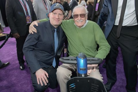 Marvel Studios President, Kevin Feige, and Stan Lee