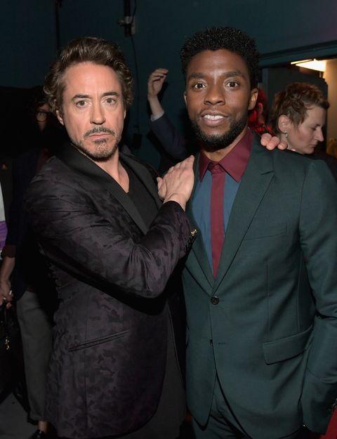 Robert Downey Jr. and Chadwick Boseman