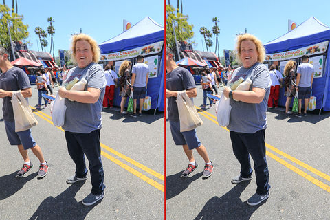 Can you spot the THREE differences in these Fortune Feimster photos?