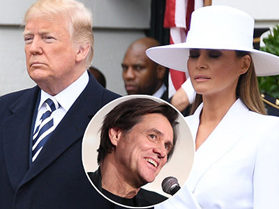 Jim Carrey SLAMS Trump's Marriage With NEW Art Trolling AWKWARD Hand-Holding Situation