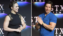 Ronda Rousey & Mark Wahlberg Break Out the Guns in Vegas