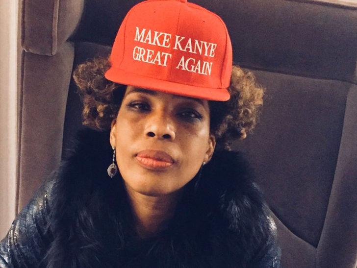 Macy Gray Wears a 'Make Kanye Great Again' Hat
