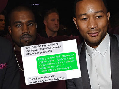 Stars React to Kanye's Trump Tweets -- as West LEAKS His Texts with John Legend!