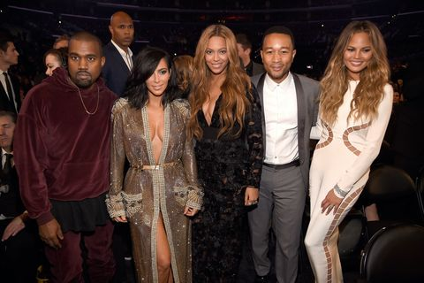 Kanye West, Kim Kardashian West, Beyonce, John Legend and Chrissy Teigen