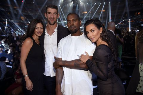 Nicole Johnson, Michael Phelps, Kanye West and Kim Kardashian