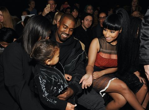 Kim Kardashian, North West, Kanye West and Nicki Minaj