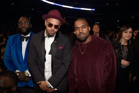 Rick Ross, Chris Brown, and Kanye West