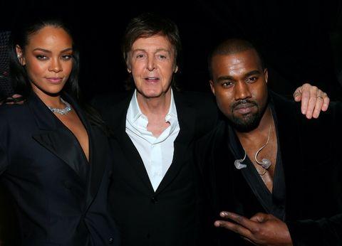 Rihanna, Paul McCartney and Kanye West