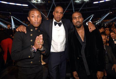 Pharrell Williams, Jay Z and Kanye West